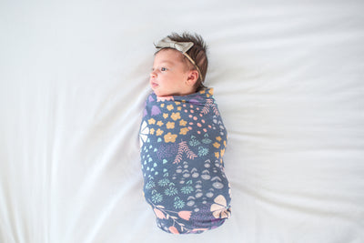 Knit Swaddle Blanket - Meadow