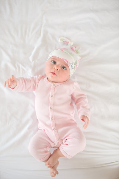 Newborn Top Knot Hat - Grace