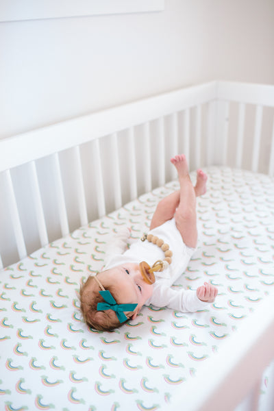 Cotton Fitted Crib Sheet - Daydream