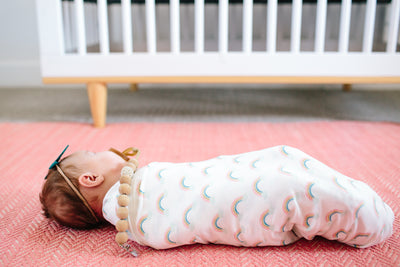 Knit Swaddle Blanket - Daydream