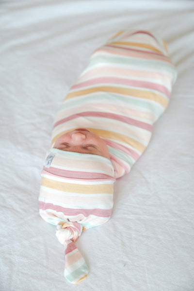 Knit Swaddle Blanket - Belle