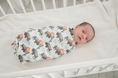 Knit Swaddle Blanket - Bison