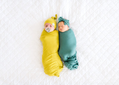 Knit Swaddle Blanket - Squirt