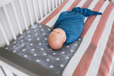 Premium Knit Fitted Crib Sheet - Patriot