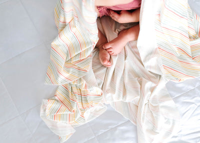 Knit Swaddle Blanket - Rainee