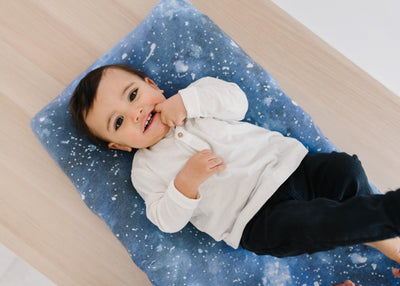 Premium Knit Diaper Changing Pad Cover - Galaxy