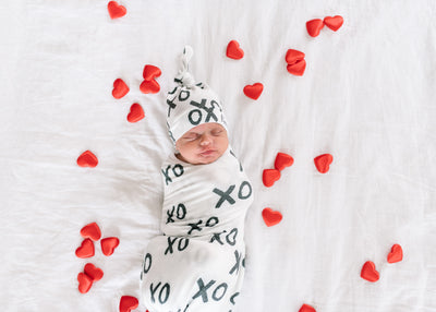 Knit Swaddle Blanket - XOXO