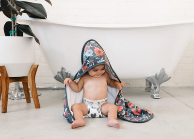 Premium Knit Hooded Towel - Poppy
