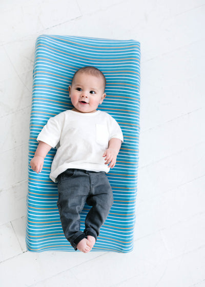 Premium Knit Diaper Changing Pad Cover - Milo
