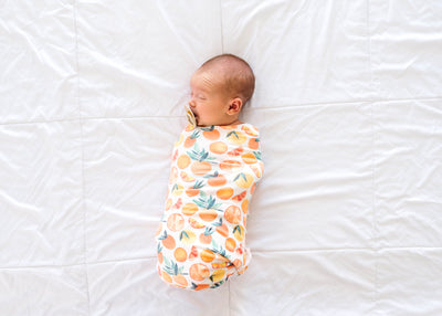 Knit Swaddle Blanket - Citrus