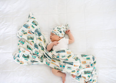 Knit Swaddle Blanket - Bruno