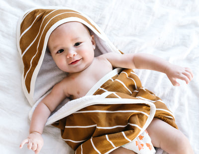 Premium Knit Hooded Towel - Camel