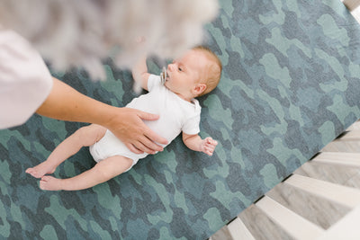 Premium Knit Fitted Crib Sheet - Hunter