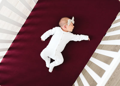 Premium Knit Fitted Crib Sheet - Ruby