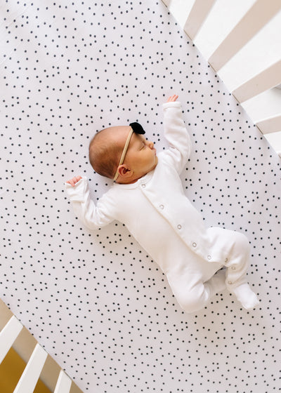 Premium Knit Fitted Crib Sheet - Willow