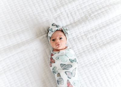 Knit Swaddle Blanket - Dot