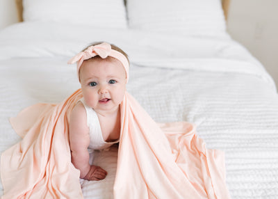 Knit Swaddle Blanket - Blush