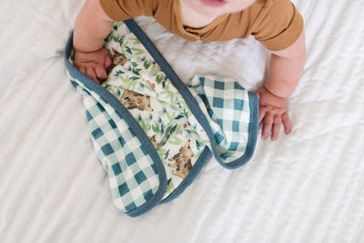 Three-Layer Security Blanket Set - Bear