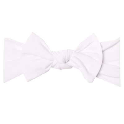 Knit Headband Bow - Dove