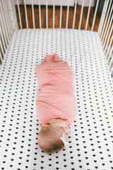 Cotton Fitted Crib Sheet - Smitten - Copper Pearl - 3