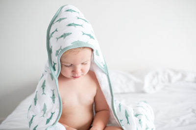 Muslin Hooded Towel - Pacific