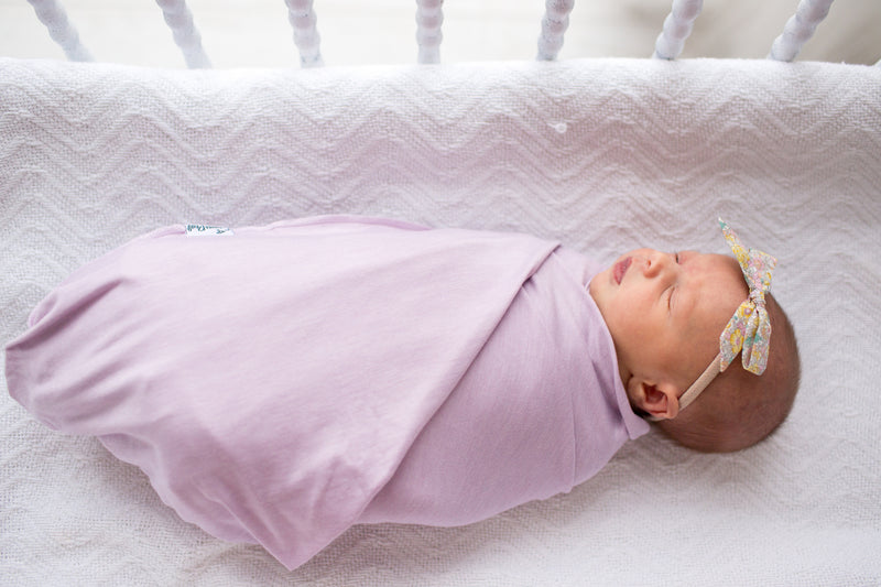 Knit Swaddle Blanket Lily Copper Pearl