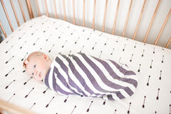 Cotton Fitted Crib Sheet - Native
