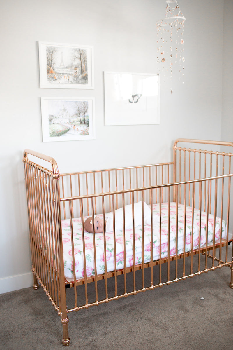 Fitted Crib Sheets Copper Pearl