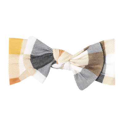 Knit Headband Bow - Harvest