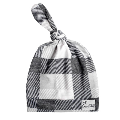 Newborn Top Knot Hat - Hudson