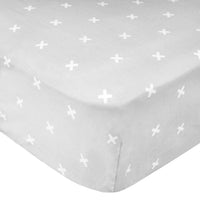 Cotton Fitted Crib Sheet - Slate