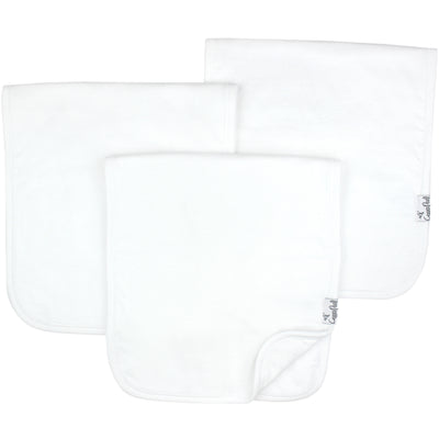 Premium Burp Cloths - White Basics
