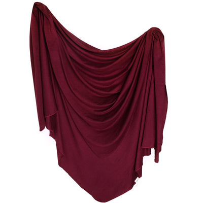 Knit Swaddle Blanket - Ruby