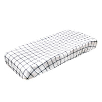 Premium Knit Diaper Changing Pad Cover - Ledger