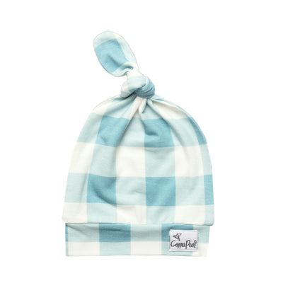 Newborn Top Knot Hat - Lincoln