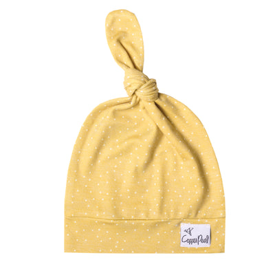 Top Knot Hat - Marigold