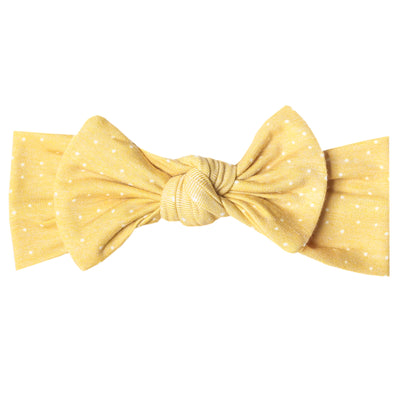 Knit Headband Bow - Marigold