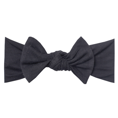Knit Headband Bow - Midnight