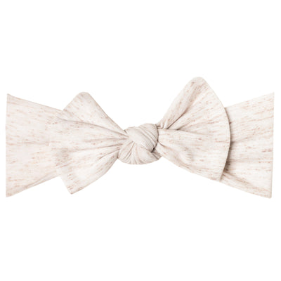 Knit Headband Bow - Oat