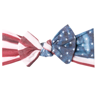 Knit Headband Bow - Patriot