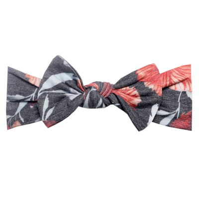 Knit Headband Bow - Poppy