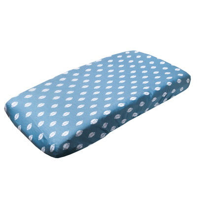 Premium Knit Diaper Changing Pad Cover - Quarterback