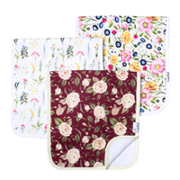 Premium Burp Cloths - Scarlet