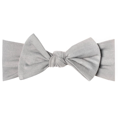 Knit Headband Bow - Stone