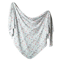 Knit Swaddle Blanket - Trout