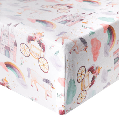 Premium Knit Fitted Crib Sheet - Enchanted