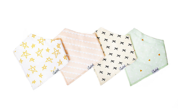 Baby Bandana Bibs - Paris - Copper Pearl - 1