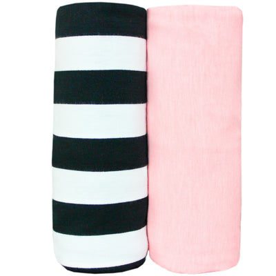Knit Swaddle Blanket - Darling Set of 2