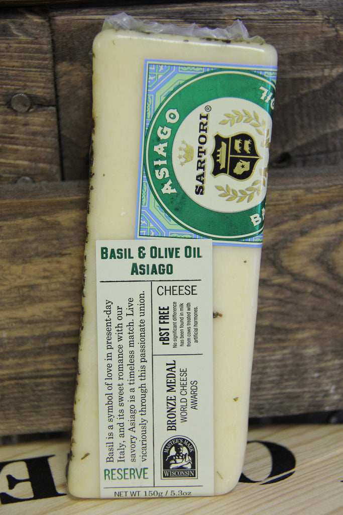 Basil and Olive Oil Asiago Cheese
