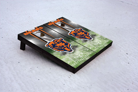 Bears football themed Custom Cornhole Border Set with 8 Cornhole Bags.